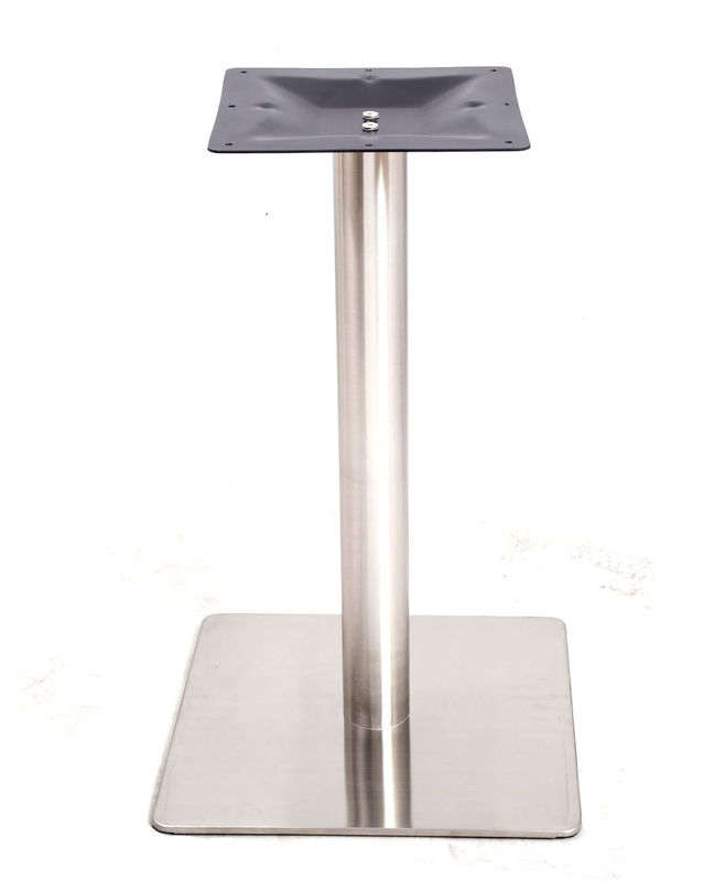 Bistro Stainless Steel Table Legs Square Size Customized ISO 9001 Certified