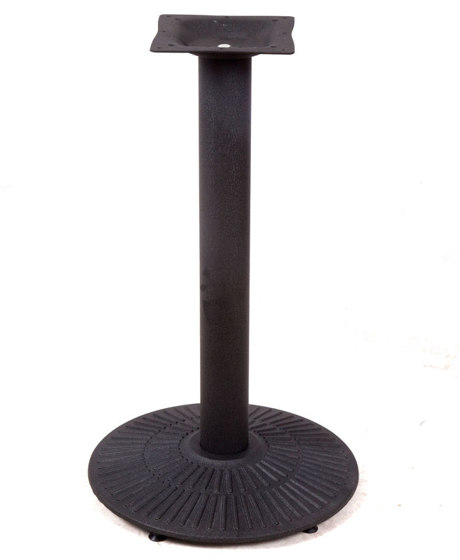 Professional Bistro Table Base  Industrial Cast Iron Table Legs With Black Powder