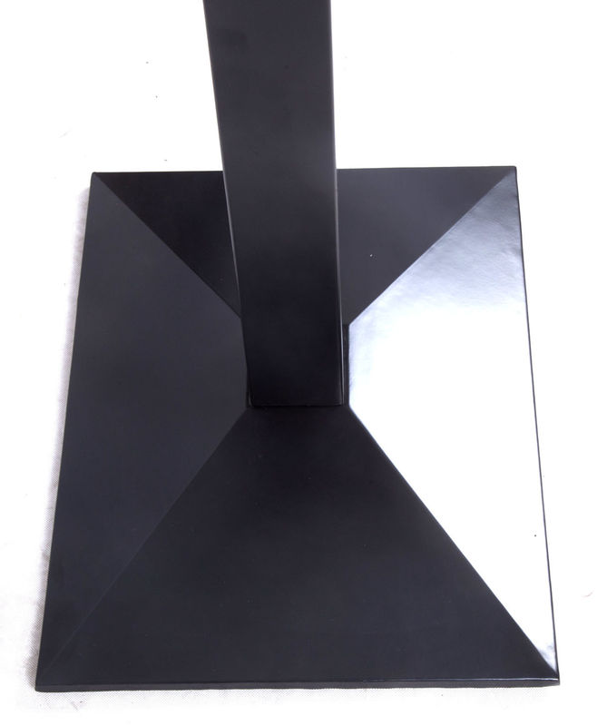 Black Square Bistro Table Base Wrinkle Powder Coating Optional Height 28'' And 41''