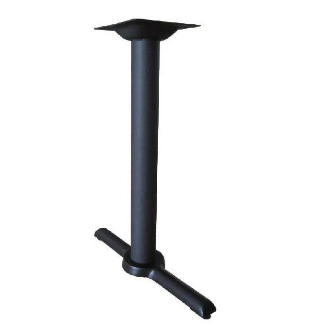 Dia 3'' Cross Table Base Metal Bistro Table Leg ISO9001 Approved Cast Iron Black