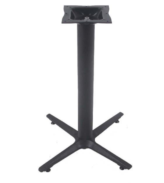 Cross Table base Cast Iron Top Plate Black Wrinkle Powder Coated 3'' Column