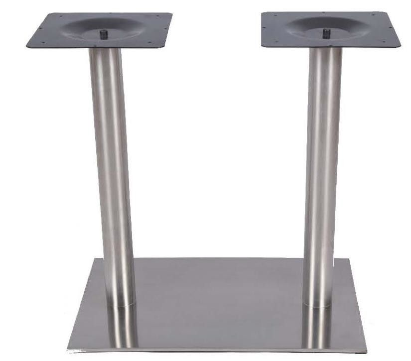 Precision Stainless Steel Dining Table Legs Hospitality Furniture Metal Plate Outdoor