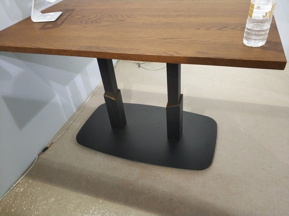 Square / Rectangle Counter Height Table Base Sandy Texture Bar Table legs For Restaurant