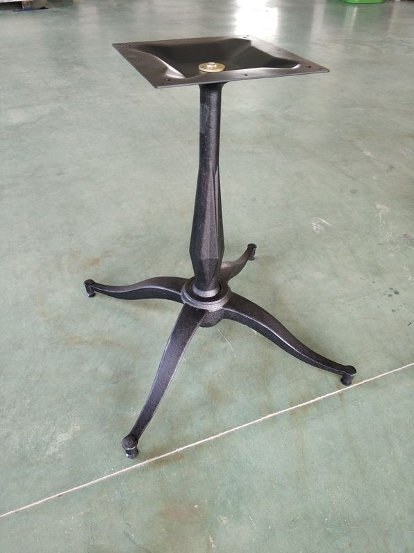 Black Color Bistro Table Base Customized Bar Table Leg Cast Iron Material