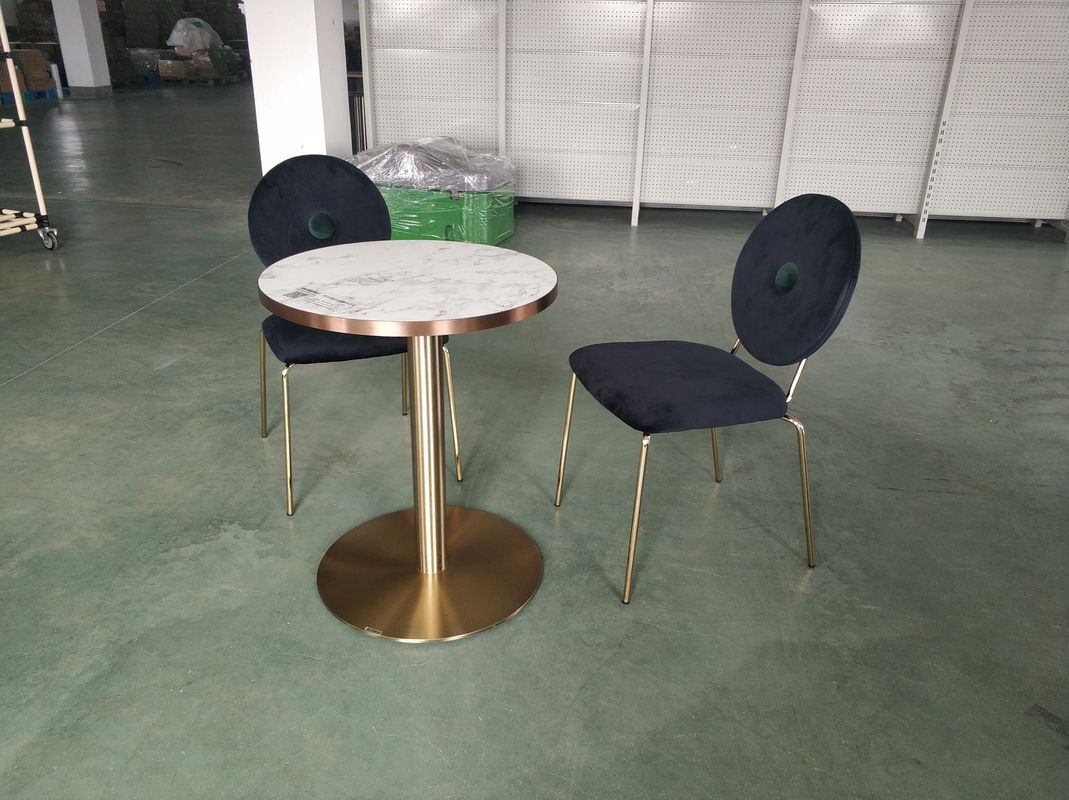 Modern Metal Table Legs Commercial Table Bases Mild Steel Golden Finish