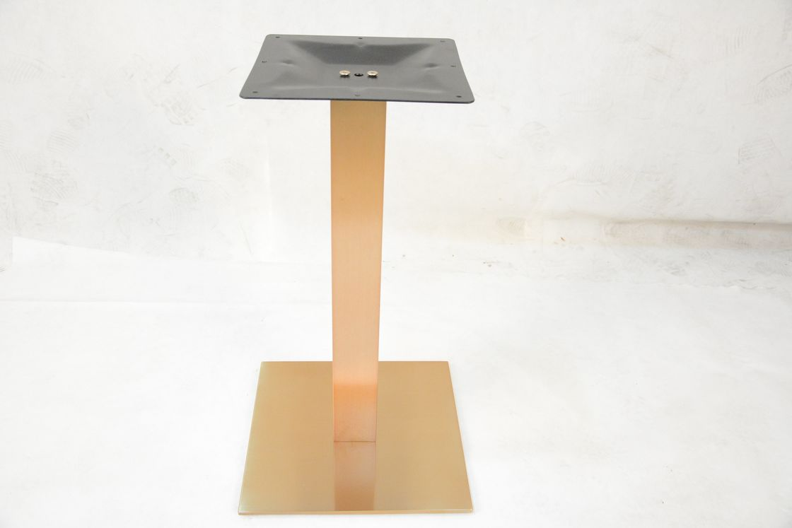 71cm Height Banquet Table Legs Stainless Steel Furniture Parts Copper Color